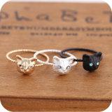 Ring van de Kat van de Juwelen van de Manier van het ontwerp de Leuke voor Vrouwen en Meisje