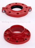 """ASTM A536 Grooved Flansch-Adapter 3 """" mit Ral 3000 Rot"""