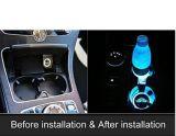 Taza de agua LED Car Mat Anti - material antideslizante Color Solar Pad de la ranura de la puerta de la luz de carga Alquiler de luces de ambiente interior