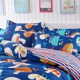 ディスパースの印刷ポリエステルファブリックホーム織物の寝具セット