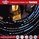 De hydraulische RubberSlang van de Olie, de Spiraal van de Vlecht van de Draad van het Roestvrij staal, de Slang van de Tuin