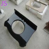 Superior negro absoluto de la vanidad del granito usado para el fregadero de la vanidad del cuarto de baño
