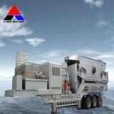 Beweglicher Steinzerkleinerungsmaschine-Kiefer, der Pflanze/mobile Kiefer-Zerkleinerungsmaschine zerquetscht