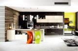 Современная деревянная мебель с глянцевым покрытием кухонным шкафом для продажи (индивидуально)