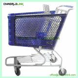 50L Chariot deux couches panier Chariot de supermarché