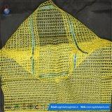 Venda por grosso de 45*75 Amarelo Sacos para embalagem de batata Raschel