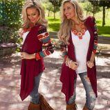 高品質は長くセーターの女性によって印刷されたカーディガンを編んだ