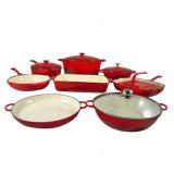 Эмаль для приготовления пищи за круглым столом чугунные тушеных блюд горшочке Pots