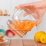 1L borran la botella de cristal de la miel de la dimensión de una variable cuadrada con el casquillo del clip