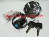Motorini completi Suzuki Gn125 En125 Ax100 Honda Gl150 Cgl150 di accensione della serratura dei pezzi di ricambio del motociclo di Yog dell'interruttore di tasto della protezione stabilita stabilita Cg150 Gy6-125 del serbatoio di combustibile