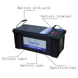 Wartungsfreie Batterie-nachladbare Autobatterie-Speicher-Leitungskabel-Säure-Batterie N200