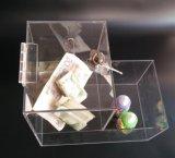 キャンデーが付いている明確なアクリルの寄付ボックス