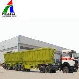 Descarga de caminhões de carga hidráulica do lado Semi-Trailer Dumper Reboque