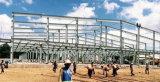 La tettoia della struttura d'acciaio prefabbrica il progetto di costruzione