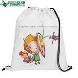 Haltbare Drawstring-Rucksack-Einkaufstasche mit der Netzkabel-vollen Prägung
