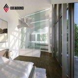 De alto brillo fresco de aluminio de color verde claro Iterior el panel de pared
