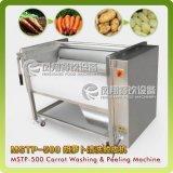 Моркови, турнепсы, моющее машинаа Radishs, машина шелушения, сладкие картофели Peeler Mstp-500