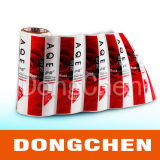 Código de barras personalizado rollo de etiquetas térmica de revestimiento de papel químico etiqueta