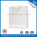Simple Plain White Kraft Paper Shopping Bag