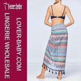 Lady Bathing Suit Beach Skirt Sarong (L38347)