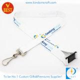 Comercio al por mayor Tarjeta personalizada impresa titular de la correa de cordón para el personal