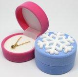 Коробка кольца ювелирных изделий коробки побрякушки оптовой продажи ткани кубика бархата