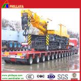 유압 조타 200 톤은 다중 차축 낮은 침대 모듈 트레일러를 반 피로하게 한다