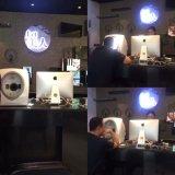Портативный Волшебное зеркало 3D кожу лица в сочетании с RGB, УФ лампа для кожи Салон красоты