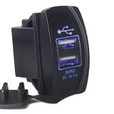 Landcruiser Pardo 닛산을%s 새로운 4 Colors Dual USB Port 5V Input DC 12V Car Charger Carling Rocker Switch