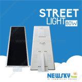 China Newskypower Großhandels80w alle in eine LED-Solarstraßenlaterne