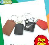 주문을 받아서 만들어진 디자인 MIFARE 고전적인 1K RFID 가죽 Keychain