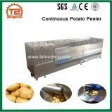 Máquina de lavar da batata e batata contínua Peeler