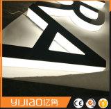 3D LEIDENE van het Roestvrij staal van de Brieven van het Kanaal Backlit Teken L van de Halo