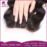 Кривая тела человеческого волоса верхней части кружева закрытия