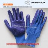 K-109 13ゲージポリエステルナイロン綿のニトリルの上塗を施してある安全働く手袋