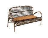 Sofá sintético da mobília de Rrattan do pátio barato ajustado para a barra 2+1+1 do hotel ou de café (YT658)