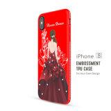 Madame à la mode élégante TPU de dessin animé avec la caisse de Rhinestone pour l'iPhone 8