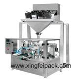 Productos de los gránulos que pesan, llenando y sellando la máquina