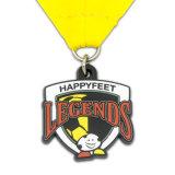 Or l'exécution de la médaille de métal de dessins animés avec cordon d'un insigne le médaillon d'attribution