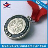 Aleación de zinc Medalla de fútbol 3D Die Cast Oro Plata Medalla de bronce, medalla con su propio logotipo