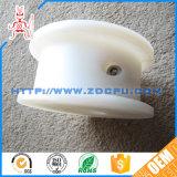 Rotella di plastica della puleggia della carrucola di tensionamento della cinghia del trasportatore del rullo rivestito di gomma