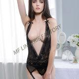 Comercio al por mayor de estilo caliente Private Label V cuello de lencería sexy mujer madura