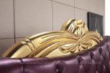 A02 натуральная кожа роскошные кровати устанавливает