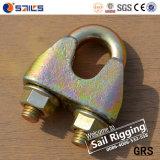 Abrazaderas de cuerda plateadas cinc amarillo de alambre DIN1142 del sujetador