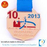Medaglia corrente di maratona di sport del premio su ordinazione del metallo della Cina