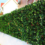 Da cerca verde plástica da folha do Boxwood do Topiary conversão artificial