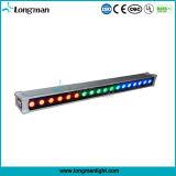 옥외 RGBW 4in1 DMX 18*10W 가벼운 IP65 LED 벽 세탁기