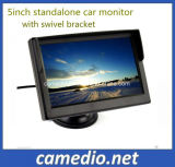 5inch日よけおよび旋回装置ブラケットが付いているスタンドアロンデジタル車LCDのモニタ