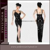 6XL Plus Size Highquality SLIP Tight Leather Maxi Dress