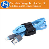 Heißer Verkaufs-Haken-und Schleifen-magischer Band-Kabelbinder mit Taste